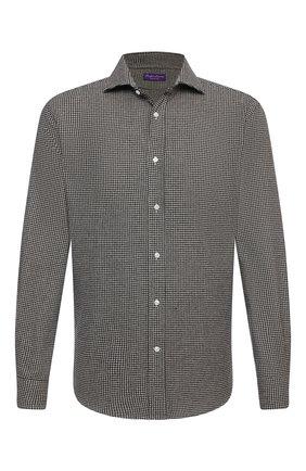 Мужская шерстяная рубашка RALPH LAUREN черно-белого цвета, арт. 791820124 | Фото 1