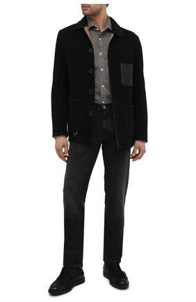 Мужская шерстяная рубашка RALPH LAUREN черно-белого цвета, арт. 791820124 | Фото 2