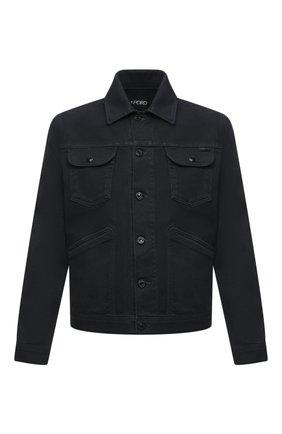 Мужская джинсовая куртка TOM FORD темно-синего цвета, арт. BVJ35/TFD116 | Фото 1