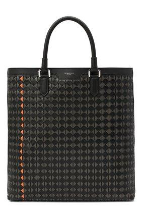 Мужская кожаная сумка-тоут mosaico SERAPIAN черного цвета, арт. SM0SAMLL7109M33T | Фото 1