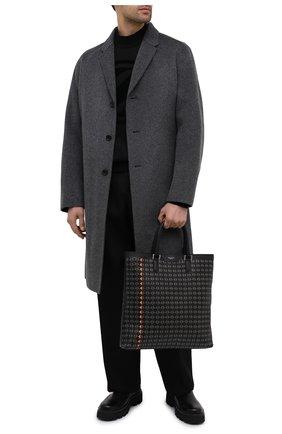 Мужская кожаная сумка-тоут mosaico SERAPIAN черного цвета, арт. SM0SAMLL7109M33T | Фото 2