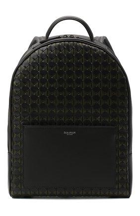 Мужской кожаный рюкзак mosaico SERAPIAN хаки цвета, арт. SM0SAMLL7123M28A | Фото 1