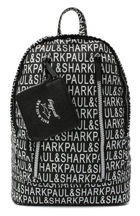 Мужской текстильный рюкзак PAUL&SHARK черно-белого цвета, арт. I20P8112/HUR | Фото 1