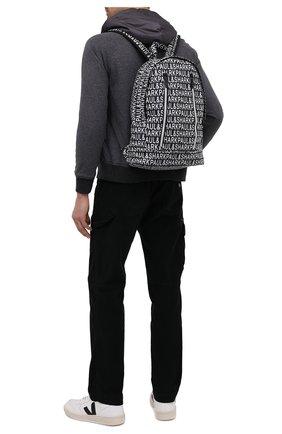 Мужской текстильный рюкзак PAUL&SHARK черно-белого цвета, арт. I20P8112/HUR | Фото 2