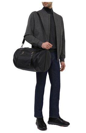 Мужская текстильная дорожная сумка TOD'S темно-синего цвета, арт. XBMTRVK04000YW   Фото 2