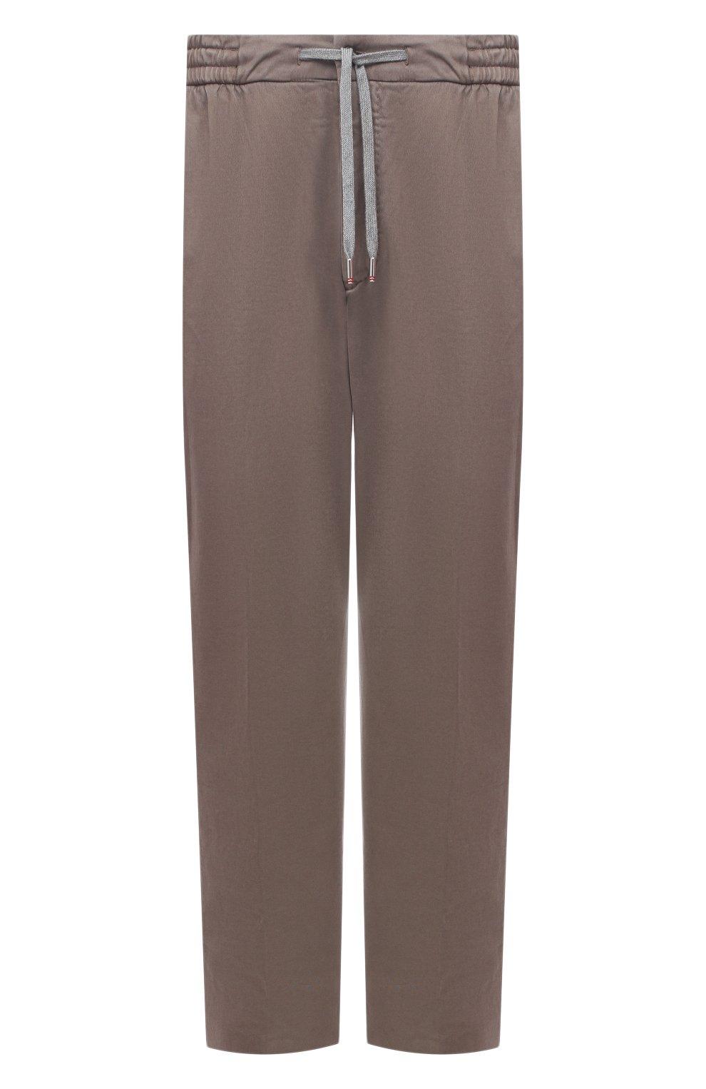 Мужские брюки из хлопка и кашемира MARCO PESCAROLO светло-коричневого цвета, арт. CARACCI0L0/4210 | Фото 1 (Big sizes: Big Sizes; Длина (брюки, джинсы): Стандартные; Случай: Повседневный; Материал внешний: Хлопок; Стили: Кэжуэл)