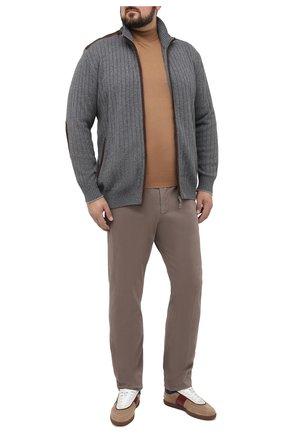 Мужской брюки из хлопка и кашемира MARCO PESCAROLO светло-коричневого цвета, арт. CARACCI0L0/4210 | Фото 2