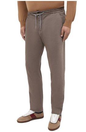 Мужские брюки из хлопка и кашемира MARCO PESCAROLO светло-коричневого цвета, арт. CARACCI0L0/4210 | Фото 3 (Big sizes: Big Sizes; Длина (брюки, джинсы): Стандартные; Случай: Повседневный; Материал внешний: Хлопок; Стили: Кэжуэл)
