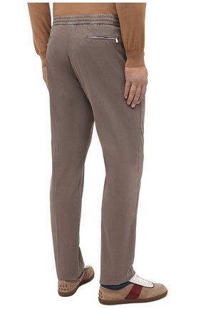 Мужские брюки из хлопка и кашемира MARCO PESCAROLO светло-коричневого цвета, арт. CARACCI0L0/4210 | Фото 4 (Big sizes: Big Sizes; Длина (брюки, джинсы): Стандартные; Случай: Повседневный; Материал внешний: Хлопок; Стили: Кэжуэл)