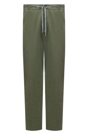 Мужской брюки из хлопка и кашемира MARCO PESCAROLO зеленого цвета, арт. CARACCI0L0/4210 | Фото 1
