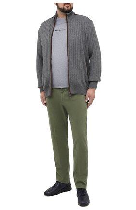 Мужской брюки из хлопка и кашемира MARCO PESCAROLO зеленого цвета, арт. CARACCI0L0/4210 | Фото 2