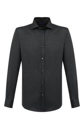 Мужская кашемировая рубашка RALPH LAUREN темно-серого цвета, арт. 790816903 | Фото 1