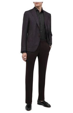 Мужская кашемировая рубашка RALPH LAUREN темно-серого цвета, арт. 790816903 | Фото 2