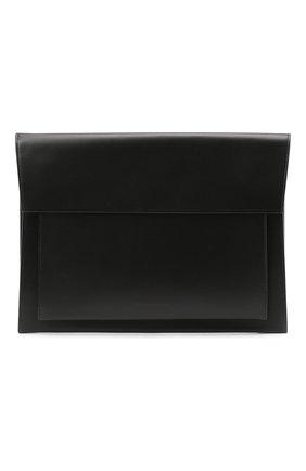 Мужская кожаная сумка для ноутбука BURBERRY черного цвета, арт. 8033863 | Фото 1