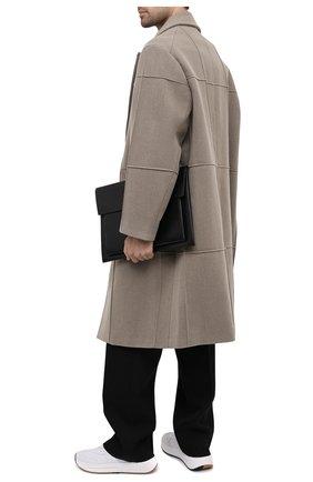 Мужская кожаная сумка для ноутбука BURBERRY черного цвета, арт. 8033863 | Фото 2