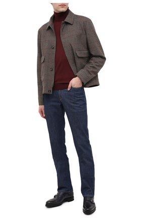 Мужские кожаные монки SANTONI темно-синего цвета, арт. MCAZ17370MI8ISWQU59 | Фото 2