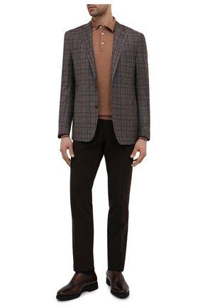 Мужские кожаные оксфорды SANTONI темно-коричневого цвета, арт. MCBN17158PW5ASYCT60 | Фото 2