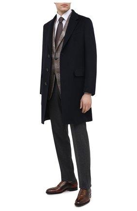Мужские кожаные оксфорды SANTONI коричневого цвета, арт. MCPG17110RG1INGCT30   Фото 2