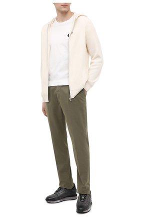 Мужские кожаные кроссовки SANTONI серого цвета, арт. MSAM21414GGNPBDNG62 | Фото 2