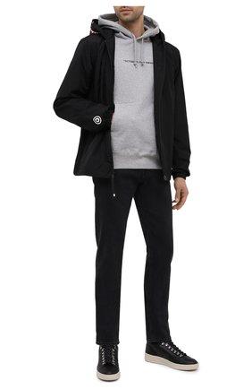 Мужские кожаные кеды VEJA черного цвета, арт. QR022358B   Фото 2