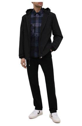 Мужские кожаные кеды VEJA черно-белого цвета, арт. VX020005B | Фото 2