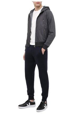 Мужские кожаные кеды VEJA черного цвета, арт. VX022268B   Фото 2