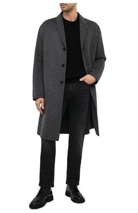 Мужские кожаные ботинки KENZO черного цвета, арт. FA65BT011L66 | Фото 2 (Материал внутренний: Натуральная кожа; Подошва: Плоская; Мужское Кросс-КТ: Ботинки-обувь, Байкеры-обувь)