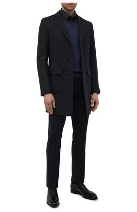 Мужские кожаные оксфорды scotch BALLY черного цвета, арт. SC0TCH/600   Фото 2