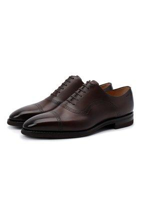 Мужские кожаные оксфорды scotch BALLY коричневого цвета, арт. SC0TCH/622   Фото 1