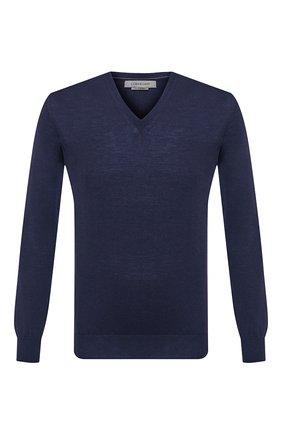 Мужской шерстяной пуловер CORNELIANI темно-синего цвета, арт. 00M501-0025100/00 | Фото 1