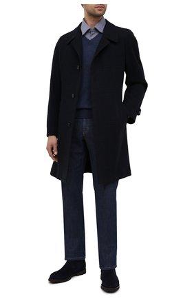 Мужской шерстяной пуловер CORNELIANI темно-синего цвета, арт. 00M501-0025100/00 | Фото 2