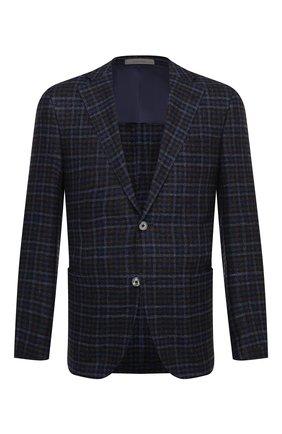 Мужской пиджак из шерсти и шелка CORNELIANI темно-синего цвета, арт. 86XY76-0816214/90   Фото 1
