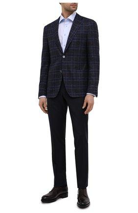 Мужской пиджак из шерсти и шелка CORNELIANI темно-синего цвета, арт. 86XY76-0816214/90   Фото 2