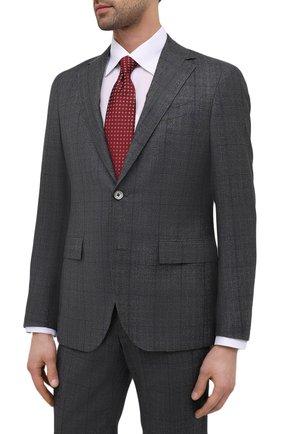 Мужской шерстяной костюм CORNELIANI серого цвета, арт. 867Y82-0817316/92 Q1 | Фото 2 (Рукава: Длинные; Материал подклада: Купро; Материал внешний: Шерсть; Костюмы М: Однобортный; Стили: Классический)