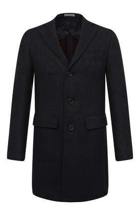 Мужской шерстяное пальто CORNELIANI темно-синего цвета, арт. 861422-0812119/00 | Фото 1
