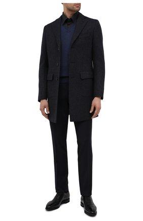 Мужской шерстяное пальто CORNELIANI темно-синего цвета, арт. 861422-0812119/00 | Фото 2