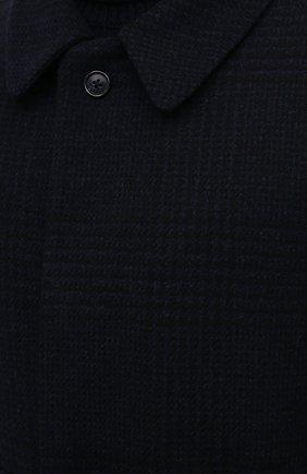 Мужской пальто из шерсти и кашемира CORNELIANI темно-синего цвета, арт. 861407-0812170/00 | Фото 5 (Материал внешний: Шерсть; Рукава: Длинные; Стили: Классический, Кэжуэл; Мужское Кросс-КТ: Верхняя одежда, пальто-верхняя одежда; Материал подклада: Вискоза)