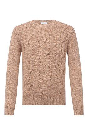 Мужской свитер из шерсти и кашемира CRUCIANI бежевого цвета, арт. CU26.300   Фото 1
