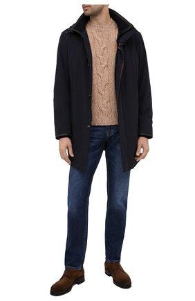 Мужской свитер из шерсти и кашемира CRUCIANI бежевого цвета, арт. CU26.300   Фото 2