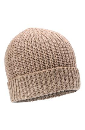 Мужская кашемировая шапка CRUCIANI темно-бежевого цвета, арт. AU050 | Фото 1