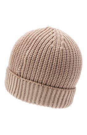 Мужская кашемировая шапка CRUCIANI темно-бежевого цвета, арт. AU050 | Фото 2