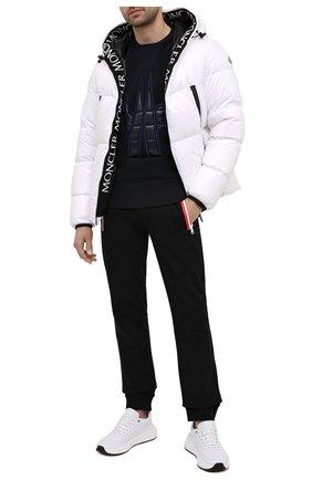 Мужской хлопковый свитшот MONCLER GRENOBLE темно-синего цвета, арт. F2-097-8G708-00-80451 | Фото 2