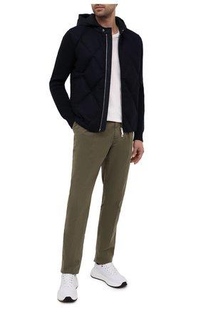 Мужской шерстяной кардиган MONCLER темно-синего цвета, арт. F2-091-9B513-00-A9418 | Фото 2
