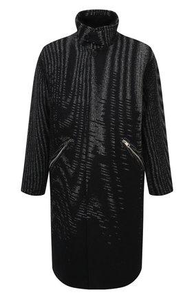 Мужской пальто из шерсти и кашемира ZEGNA COUTURE черного цвета, арт. CVV63/8V151 | Фото 1
