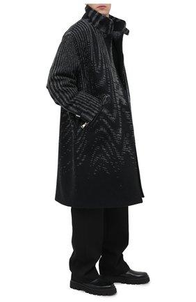 Мужской пальто из шерсти и кашемира ZEGNA COUTURE черного цвета, арт. CVV63/8V151 | Фото 2
