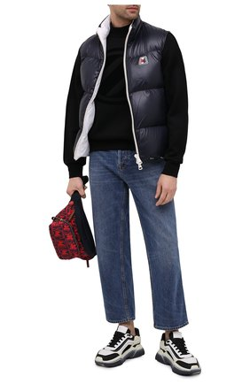 Мужская текстильная поясная сумка MONCLER красного цвета, арт. F2-09A-5M702-00-02SL3 | Фото 2