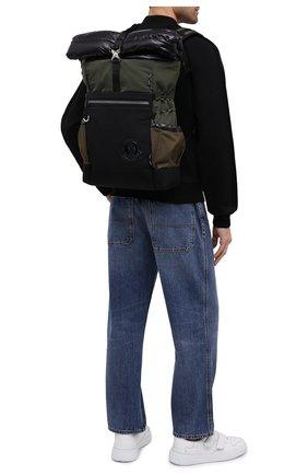 Мужской текстильный рюкзак extreme MONCLER хаки цвета, арт. F2-09A-5A501-10-02SL5 | Фото 2