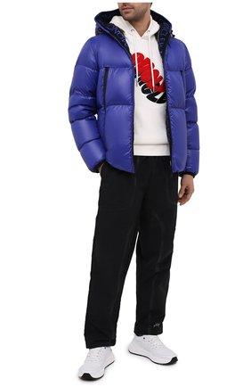 Мужская пуховая куртка MONCLER синего цвета, арт. F2-091-1A51B-00-68950 | Фото 2