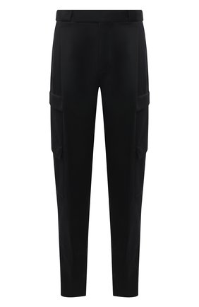 Мужские шерстяные брюки-карго ZEGNA COUTURE черного цвета, арт. 887146/630SNT | Фото 1