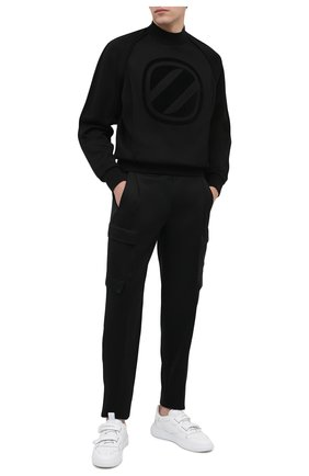 Мужские шерстяные брюки-карго ZEGNA COUTURE черного цвета, арт. 887146/630SNT | Фото 2